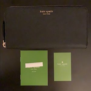 NEW Kate Spade Cameron Continental Leather Wallet